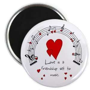 LOVE MUSIC Valentines Day 2.25 Fridge Magnet Everything
