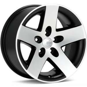 Mamba MR1 16x8 Machined Black Wheel / Rim 5x4.5 with a 13mm Offset and