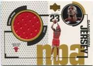 1998/99 Upper Deck Michael Jordan Game Worn Jersey (Red) Card #GJ20