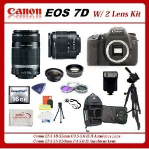 com Canon EOS 7D DSLR Camera with SSE Platinum Kit Includes   Canon