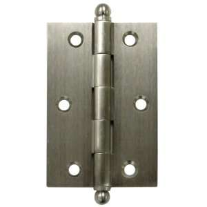 of 2 3 x 2 Solid Brass Cabinet Hinge with Ball Tip Finials CH3020