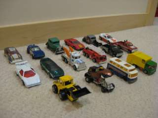 Lot of 16 Matchbox Cars, Bus, Trucks Lesney England Superfast (1969 82