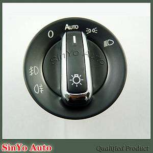 CHROME EURO HEAD LIGHT SWITCH FOR VW PASSAT CC B6 GOLF JETTA MK5 MK6