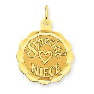 14K Special Niece Charm   Measures 26.9x19.5mm   JewelryWeb Jewelry