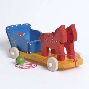 Wooden Pull Toy   Horse Carriage Toys & Games