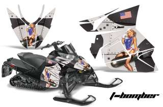 GRAPHIC DECALS WRAP KIT ARCTIC CAT CROSS SNOWMOBILE SLED 2012 BOMBER