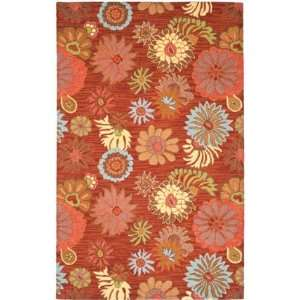Safavieh Blossom Collection BLM731B Handmade Red and Multi