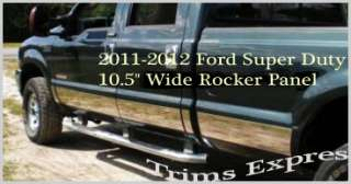 2011 Ford F250/SuperDuty Rocker Panel Ext Cab LB 10.5