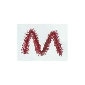 9 X 10 Sparkling Red Tinsel Artificial Christmas Garland