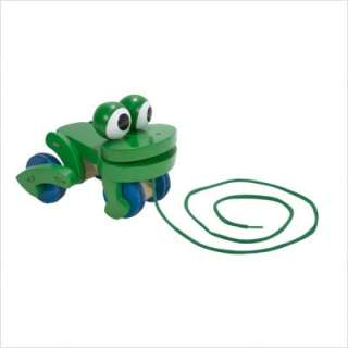and Doug Frolicking Frog Wooden Pull Toy 3021 000772030212