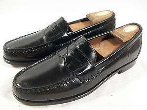 ALLEN EDMONDS MENS WALDEN SLIP ON PENNY LOAFER BLACK LEATHER 13 B