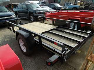 Utility Trailer New 2012 Sure Trac 5x10 Tube Top Open Utility Trailer