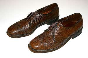 Vintage Allen Edmonds SHARKSKIN Wingtip Leather Dress Shoes Sz 8.5 B