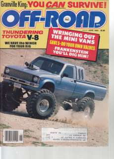 Off Road, 6/84, Mini Vans, Nissan 4x4, Honda TRX 200