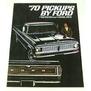 1970 70 FORD PICKUP Truck BROCHURE F100 F250 F350