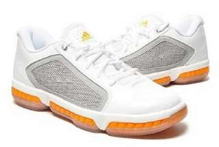ADIDAS Mens Alive LT Low Basketball Sneakers White/Grey/Orange