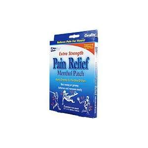 Extra Strength Pain Relief Mentol Patch   Relieves Minors Aches & Pain