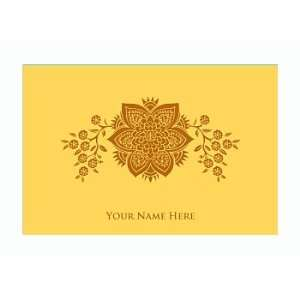 Personalized Stationery Note Cards with French Floral