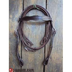 Western Leather Tack Horse Bridle Headstall Reins 012