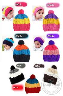 Infant Knit Hats Kids Children Soft Caps Costume Cute