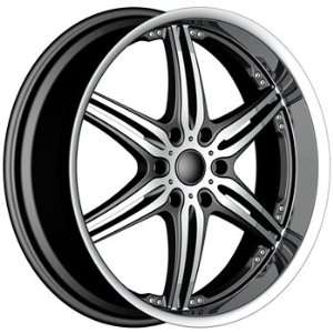 Akuza 752 22x9.5 Machined Black Wheel / Rim 6x5.5 with a 25mm Offset