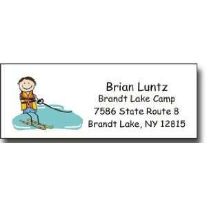 Figures   Address Label (Waterskier Boy   Full Color)