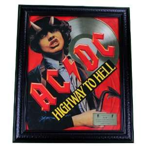 /DC Highway To Hell Gold Record Award non Riaa LP CD