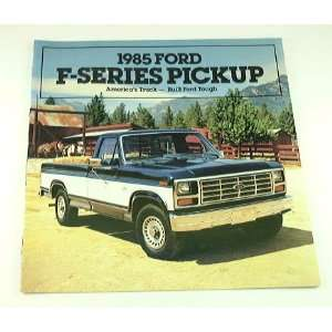 1985 85 Ford F SERIES PICKUP Truck BROCHURE F350 F250