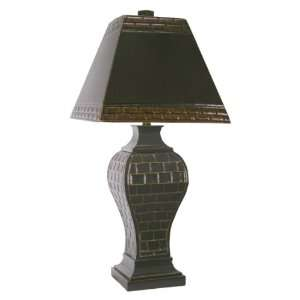 Squares Metal Table Lamp with matching Metal Shade