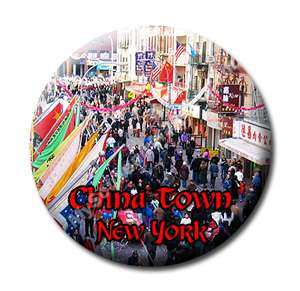 China Town   New York NYC Souvenir Photo Fridge Magnet
