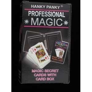 HP Magic Secret Cards with Card Box   Magic Trick Toys
