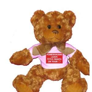 POMERANIANS LEAVE PAW PRINTS ON YOUR HEART Plush Teddy