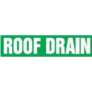 ROOF DRAIN   Self Stick Pipe Markers   outside diameter 8