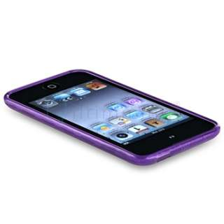 For iPod touch 4 4G 4th Gen Clear Dark Purple+Blue Circle Skin Case