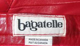 Womens Red Glove Leather Cowhide Skirt BAGATELLE Size 6