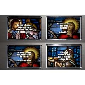 Set of 4 Fridge Magnets Bible Quotes 4