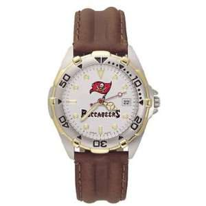 Tampa Bay Buccaneers Mens NFL All Star Watch (Leather Band)