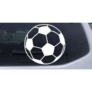 Soccer Ball Sports Car Window Wall Laptop Decal Sticker    White 3in X
