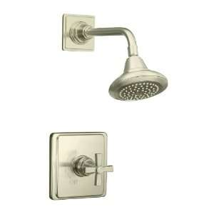 KOHLER Pinstripe Vibrant Brushed Nickel 1 Handle Tub & Shower Faucet