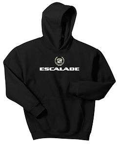 CADILLAC ESCALADE HOODIE BLACK SWEAT SHIRT ESV SUV HOODY JUMPER JACKET