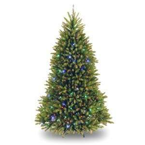 Dunhill Fir Hinged Tree with 500 Concave Multicolor LED Lights   7.5