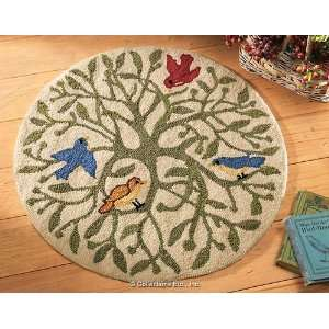 Tree Branches and Bird Small Area Rug