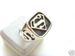 SILVER 925 SUPER HEROES LEGION Superman LOGO RING
