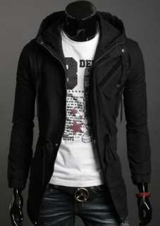 Men Casual Top Designed Slim Fit hoody Jacket Coat 3 Color 4size h417