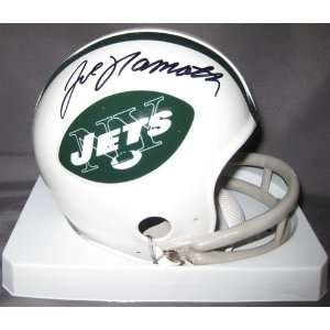 Joe Namath Autographed/Hand Signed New York Jets Mini