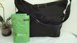 NEW KATE SPADE BASIC BLACK NYLON SERENA BABY DIAPER BAG TOTE TRAVEL