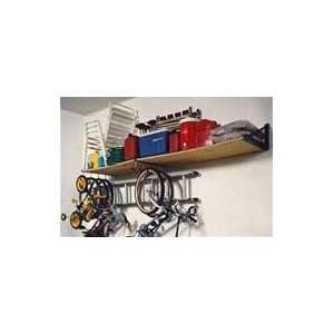 Foot Wide Heavy Duty Storage Shelf Kit w/ 8 Storage Hooks and 2