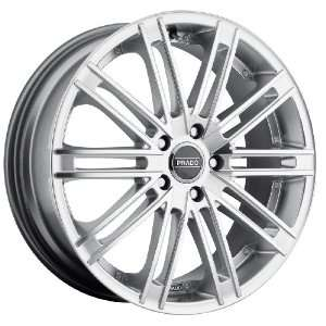 18x8 Prado Arcana 5x120 +40mm Hyper Silver Wheels Rims