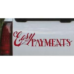 Red 22in X 5.7in    Easy Payments Decal Business Car Window Wall