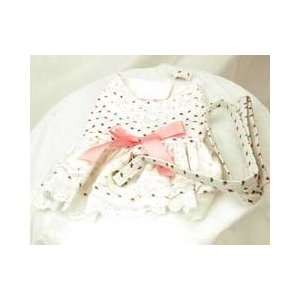 Southern Charm Harness Dress with Ribbons and Rosebuds for Dogs